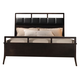 Acme Boardwalk Queen Tufted Leather Headboard Panel Bed in Wenge 20110Q
