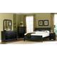 Homelegance Marianne Sleigh Bedroom Set in Black