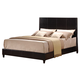 Acme Ridge Eastern King Panel Bed with PU Leather Headboard in Black 20157EK