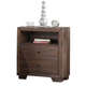 Acme Equinox 2-Drawer Nightstand in Distressed Ash 20193