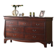 Acme Verona Dresser with Hidden Drawers in Dark Cherry 20215