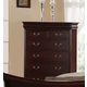 Acme Verona Chest with Hidden Drawers in Dark Cherry 20216