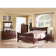 Acme Verona Sleigh Bedroom Set in Dark Cherry