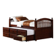 Coaster Twin Storage Trundle Daybed in Cappuccino 400381T