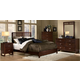 Homelegance Paula Panel Bedroom Set in Medium Cherry