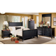 Homelegance Pottery Panel Bedroom Set in Black