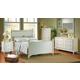 Homelegance Pottery Panel Bedroom Set in White