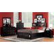 Homelegance Preston Bookcase Bedroom Set in Black