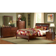 Homelegance Rivera Sleigh Bedroom Set in Warm Brown Cherry