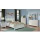 Homelegance Sanibel Panel Bedroom Set in White