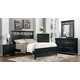Homelegance Sanibel Panel Bedroom Set in Black