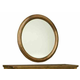 Durham Furniture Hudson Falls Round Mirror in Aged Wheat 111-180