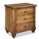 Durham Furniture Hudson Falls 3 Drawer Nightstand in Aged Wheat 111-203