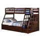 Acme Jason Twin over Full Bunk Bed with Storage Ladder and Trundle in Espresso 37015