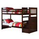 Acme Alem Twin Bunk Bed with Storage Ladder in Espresso 37020