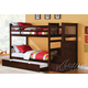 Acme Alem Bunk Bedroom Set with Storage Ladder and Trundle in Espresso