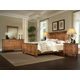 Durham Furniture Hudson Falls 4-Piece Panel Bedroom Set in Aged Wheat