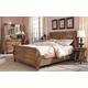 Durham Furniture Vineyard Creek 4-Piece Sleigh Bedroom Set in Aged Wheat