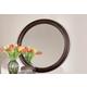 Durham Furniture Vineyard Creek Round Mirror in Antique Rye 112-180