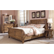 Durham Furniture Vineyard Creek 4-Piece Sleigh Bedroom Set in Antique Rye