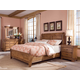 Durham Furniture Vineyard Creek 4-Piece Sleigh Bedroom Set w/ Low Footboard in Antique Rye