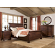 Durham Furniture Vineyard Creek 4-Piece Master Sleigh Bedroom Set in Antique Rye