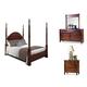 Durham Furniture Mount Vernon Architect 4-piece Palladian Poster Bedroom Set in Vernon