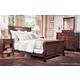 Durham Furniture Mount Vernon Architect 4-piece Sleigh Bedroom Set in Vernon