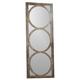 Hooker Furniture Melange Encircle Floor Mirror in Rustic Finish 638-50033