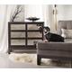 Hooker Furniture Melange Mirrored Front Chest in Dark Merlot 638-50039