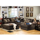 Jackson Everest 4pc Sectional Living Room Set in Chocolate