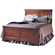 Durham Furniture Chateau Fontaine Queen Panel Bed in Candlelight 975-134