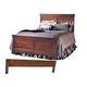 Durham Furniture Chateau Fontaine Queen Panel Bed w/ Low Footboard in Candlelight 975-134B
