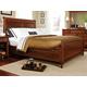 Durham Furniture Savile Row King Sleigh Bed w/ Low Footboard in Victorian Mahogany 980-147B-VICM