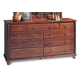 Durham Furniture Savile Row Triple Dresser in Victorian Mahogany 980-173-VICM
