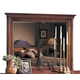 Durham Furniture Savile Row Landscape Mirror in Victorian Mahogany 980-182-VICM