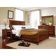 Durham Furniture Savile Row 4-piece Sleigh Bedroom Set w/ Low Footboard in Victorian Mahogany