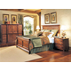 Durham Furniture Savile Row 4-piece Panel Bedroom Set in Victorian Mahogany