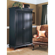 Durham Furniture Savile Row Armoire in Antique Black 980-160-ANTB
