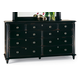 Durham Furniture Savile Row Triple Dresser in Antique Black 980-173-ANTB