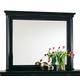 Durham Furniture Savile Row Landscape Mirror in Antique Black 980-182-ANTB