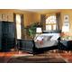 Durham Furniture Savile Row 4-piece Sleigh Bedroom Set in Antique Black