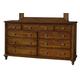 Durham Furniture Savile Row Triple Dresser in Park Lane 980-173-PARL