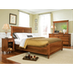 Durham Furniture Savile Row 4-piece Sleigh Bedroom Set w/ Low Footboard in Park Lane
