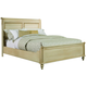 Durham Furniture Savile Row King Sleigh Bed w/ Low Footboard in Antique Cream 980-147B-ANTC