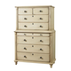 Durham Furniture Savile Row Chest on Chest in Antique Cream 980-157-ANTC