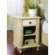 Durham Furniture Savile Row Open Nightstand in Antique Cream 980-201-ANTC
