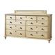 Durham Furniture Savile Row Triple Dresser in Antique Cream 980-173-ANTC
