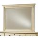 Durham Furniture Savile Row Landscape Mirror in Antique Cream 980-182-ANTC