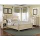 Durham Furniture Savile Row 4-piece Sleigh Bedroom Set w/ Low Footboard in Antique Cream